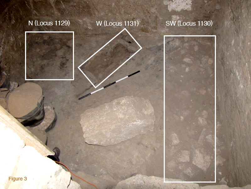 Figure 3. Floor loci in the Candle Room after excavation. Photograph by Gillian Pyke.
