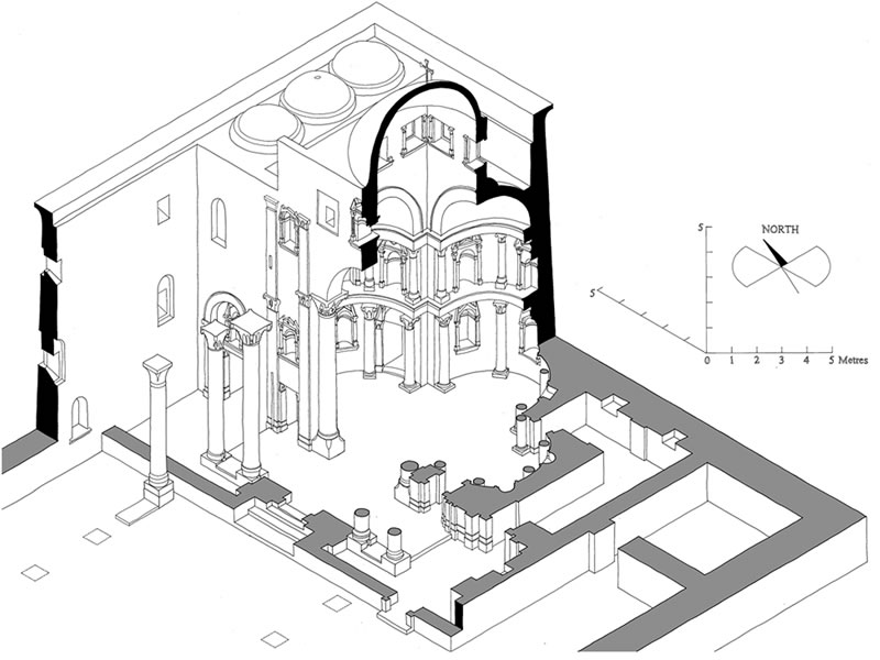 Figure 1. Isometric plan of the Red Monastery Church sanctuary. Drawing by Nicholas Warner.