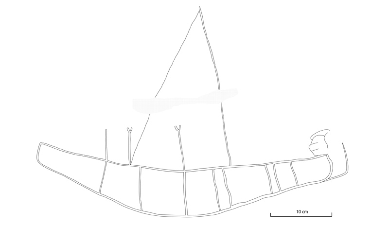 Figure 9 Hedgehog-headed boat from Khufu rock inscription site