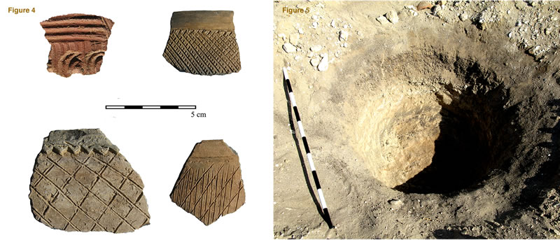 Figure 4 (left) Pan Grave pottery from Area H3. Figure 5, Pan Grave tomb M08-09/H3.1.