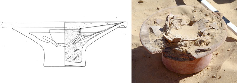 Figure 13 Heating apparatus from within the rectangular dry-stone structure at Abu Ziyar.