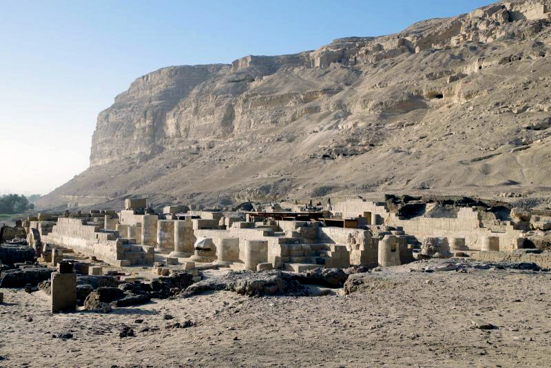 Figure 1. View of the temple complex looking southwest.