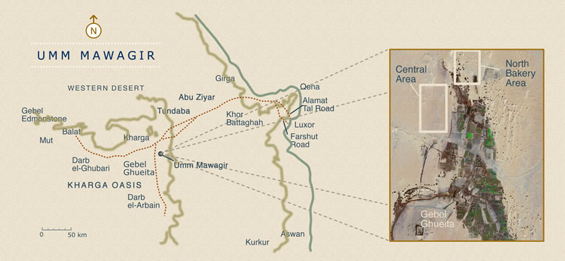 Umm Mawagir In Kharga Oasis An Industrial Landscape Of The Late - Map of egypt oasis