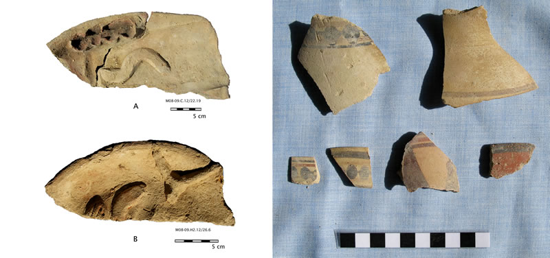 Figure 7 (left) Offering platters from the Mo'alla necropolis. Figure 8 (right) Offering platters from the Mo'alla necropolis.