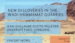 New discoveries in the Wadi Hammamat quarries