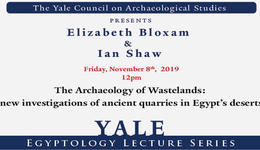 Elizabeth Bloxam and Ian Shaw guest lecture at Yale
