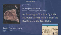 Gregory Marouard Lecture at Yale Egyptology