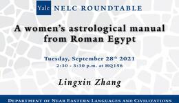 NELC Roundtable Lingxin Zhang Egyptology